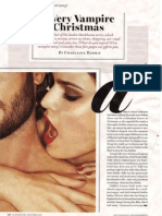 Charlaine Harris a Very Vampire Christmas Short Story From Glamour Mag