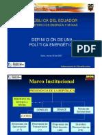 ECUADOR - Definición de una Política Energética
