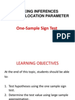 One Sample Sign Test