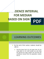 Confidence Interval for Median Based on Sign Test