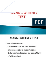 Mann Whitney Example