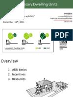 Appraisal ADU Introduction
