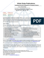 Call for Papers- IJORCS - Special Issue (Data Mining and Warehousing)