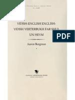 A.bergman Yiddish English Yiddish Dictionary