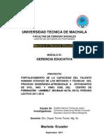 Metodos y Tecnicas Gerencia Educativa