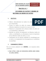PRACTICA N°2 - Preparacion de medios de cultivo y siembra de bacterias en medios de cultivo