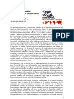 El Foro Social Mundial to Al Neoliberalismo y La Globalizacion
