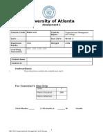 MBA 640 Case Study