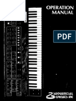 Sequential Circuits Prophet5 Manual