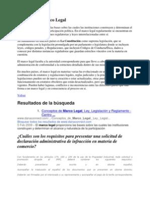 Concepto De Marco Legal Patentar Política