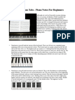 How to Learn Piano Tabs - Piano Notes for Beginners