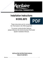 Air handlers service instructions thermostat gas compressor aprilaire tstat installation sciox Gallery
