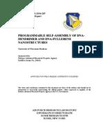 Robert M. Corn- Programmable Self-Assembly of DNA-Dendrimer and DNA-Fullerene Nanostructures