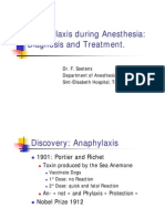 Crisis Management During Anaesthesia,Anaphylaxis And allergy