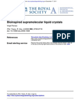 Virgil Percec- Bioinspired supramolecular liquid crystals