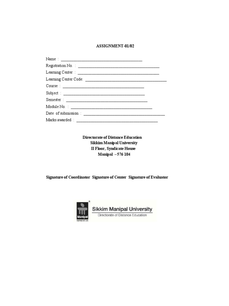 unisa assignment cover sheet download