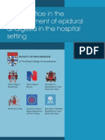 Epidural Analgesia 2011
