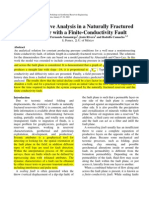 Decline Curve Analysis in a Naturally Fractured Reservoir With a Finite-Conductivity Fault