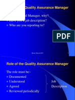 4. Role of the QA Manager