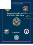 Barriers Obstacles and Mine Warfare for Joint Ops