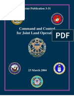 Command and Control for Joint Land Operations
