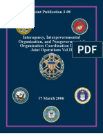 Inter Agency, Int Erg Over Mental Org. and Nongov. Org. Coord. During Joint Ops. Vol II