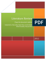 Literature Review CB