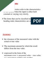Static & Dynamic Characteristics