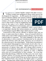 The Relations of Experimental Psychology