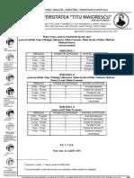 Structura an Universitar 2011-2012