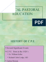 Clinical Pastoral Education