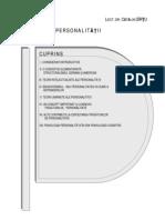Cuprins P Personalitatii an II Sem I