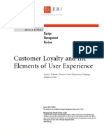 Customer Loyalty and the Elements of User Experience