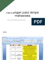 Rancangan Judul Skripsi Mahasiswa