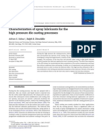 Characterization of Spray Lubricants for the High Pressure Die Casting Next Term Processes