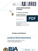Justice Reinvestment in Hawaii - Detailed Analyses and Policy Direction