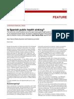 Is Spanish public health sinking?