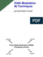 Pulse-Width Modulation (PWM) Techniques