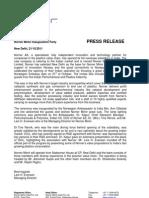 Press Release, Norner Mimir - Letter