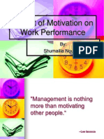 Impact of Motivation on Work Performance