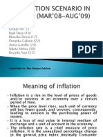 INFLATION SCENARIO IN INDIA (MAR'08-AUG'09)