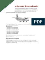 Reseña de aviones de línea regionales