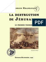 georges Grandjean la destruction du temple de Jerusalem