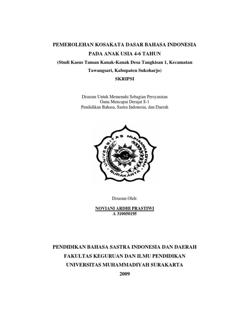 Skripsi Pemerolehan Bahasa