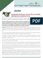 VALORACIÓN ÉTICA DEL USO DE CÉLULAS MADRE