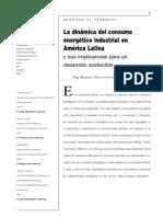 La dinámica del consumo energético industrial en América Latina