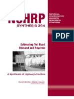 Estimating Toll Road Demand & Revenue--TRB, 2006