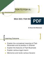 Week 1 Introduction to Fiqh Al-muamalat
