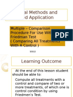 Friedman Test-Comparing All Treatments With a Control
