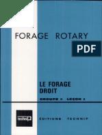 Forage Rotary Le Forage Droit